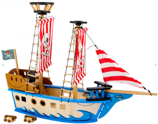 Nave Pirata Jack In Legno