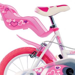Bicicletta Per Bambina DinoBikes 16″ White/Pink