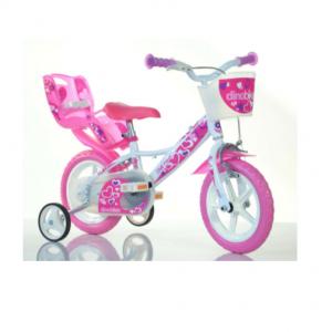 "Bicicletta Per Bambina 12"" White/Pink"